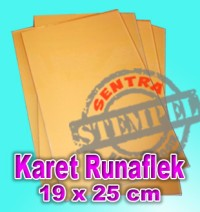 Karet Stempel Runaflek / Bahan Stempel, 16 lbr (1 Plano)