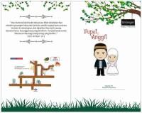 D24 undangan pernikahan kartun islami vintage bunga