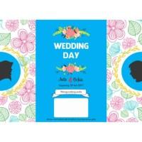 E27 Undangan pernikahan floral vintage bunga