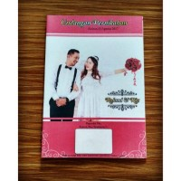 E19 Undangan pernikahan full foto 03 vintage bunga