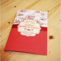 F23 SOFTCOVER Undangan Pernikahan Bunga Floral Vintage Full Colour (mu