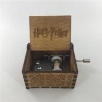 WOODEN MUSIC BOX Harry Potter Kotak Musik Kayu Langsung Kirim