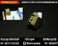 Keycaps Dota Logam Gold || Keyboard Mechanical Gaming