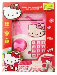 Mainan Anak Deposit Box Hello Kitty Brankas ATM Saving Money Celengan