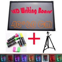 LED Writing Board - 1 Set 40 x 60cm - Papan tulis LED -Papan Iklan