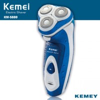 KEMEI KM-5880 3D Full Washable Rechargeable Rotary Triple Shaver Razor