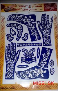CETAKAN Tangan Henna Nail art golecha