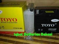 Aki motor TOYO MF YTX14-BS 12 V 14 Ah
