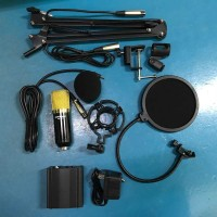 set rec - Condenser Microphone BM700+Scissor Arm+Phantom Power+Filter.
