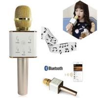 MIC KARAOKE BLUETOOTH Q7 karaoke langsung dari you tube lewat Hp