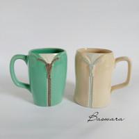 Mug Couple Jas Jaket Cangkir Gelas Keramik Unik Souvenir Lucu Cantik