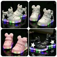 Sz 26-30 Sepatu Anak Lampu Led Import Model Minnie Dot - 3 Warna