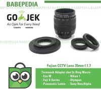 Lensa mirrorless Fujian 35mm f1.7 CCTV Lens sony,eosm,nikon,m43,fuji