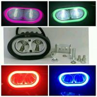 Lampu Tembak LED CREE OWL 2 Mata  Angel Eyes 30watt Sorot Motor Mobil