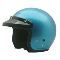 Cargloss retro helm half face - slide ice blue met