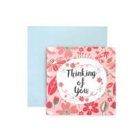Kartu Ucapan ulang tahun / Birthday Harvest Sweet Wishes Pink Flower
