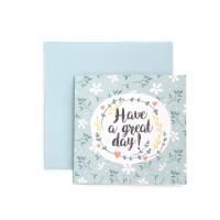 Kartu Ucapan ulang tahun / Birthday Harvest Sweet Wishes Flower Blue