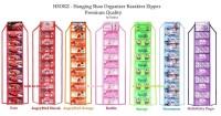 Rak Sepatu Gantung Karakter / HSO - Hanging Shoes Organizer Zipper New