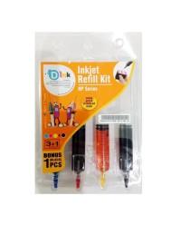 Tinta Suntik 4 Warna Printer HP Isi Ulang Inkjet Refill Kit D ink