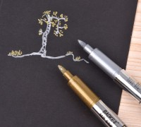 Silver and Gold Marker Pen
