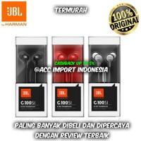 Handsfree Headset Earphone JBL C100SI With Mic Original Garansi