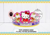 Topi Ulang Tahun Anak / Topi Pesta Ultah Hello Kitty isi 10 PCS
