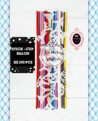 Stick / Tongkat dan Cup Balon isi 100 PCS