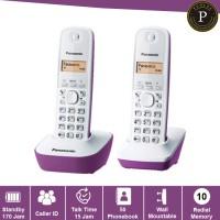 harga Telepon wireless panasonic kx-tg1612 - purple / telephone kantor rumah Tokopedia.com