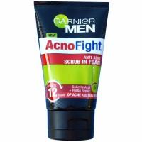 Garnier Men Acno Fight  Anti-acne Scrub In Foam 100 ml