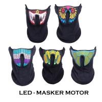 Masker Motor Unik / LED Mask Multifungsi Polyester - 5 Motif