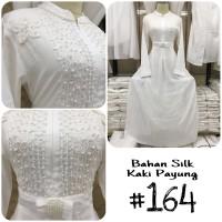 harga Baju gamis putih / busana muslim / baju muslim wanita #164 std Tokopedia.com