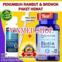 KIRKLAND MINOXIDIL 5%+Biotin 10.000mcg(100caps) BONUS PIPET