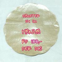 Kertas Cokelat Nasi Alas Piring Rotan/Lidi/Plastik Ecer