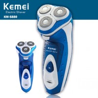 KEMEI KM-5880 3D Full Washable Rechargeable Rotary Triple Floating