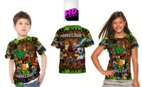 Kaos Baju Anak Fullprint Custom Minecraft art1