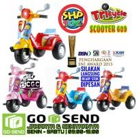 SHP Scooter 609 Mainan Anak Sepeda Roda Tiga Dorong Musik Khusus Gojek