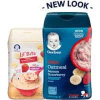 Gerber Lil Bits Oatmeal Banana Strawberry Cereal 8 oz
