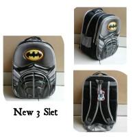 HARGA PROMO Tas Anak SD Import Batman Otot 6D Soft Hard Cover Timbul