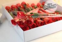 buket bunga sabun/ buket bunga mawar merah / flower soa Murah