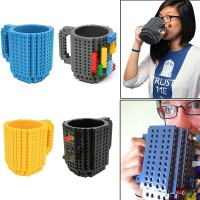 Brick Mug lego DIY Block Puzzle gelas cangkir minum unik murah keren