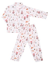 Mooi piyama baju tidur printing premium anak paris (panjang)