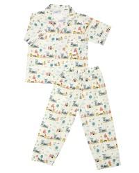 Mooi piyama baju tidur printing premium anak train (pendek)