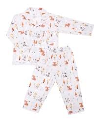 Mooi piyama baju tidur printing premium anak tupai madu (panjang)