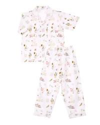 Mooi piyama baju tidur printing premium anak garden bunny (pendek)