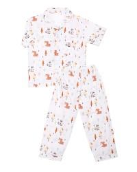 Mooi piyama baju tidur printing premium anak tupai madu (pendek)