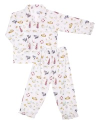 Mooi piyama baju tidur printing premium anak paus whale (panjang)