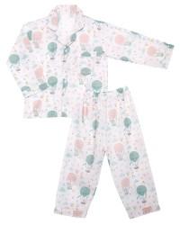 Mooi piyama baju tidur premium anak pastel balon udara (panjang)