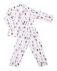 Mooi piyama baju tidur printing premium anak penguin (panjang)