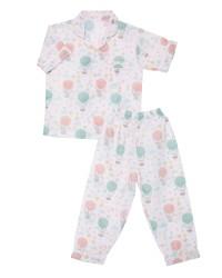 Mooi piyama baju tidur premium anak pastel balon udara (pendek)