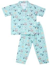 Mooi piyama baju tidur printing premium anak sky rocket (pendek)